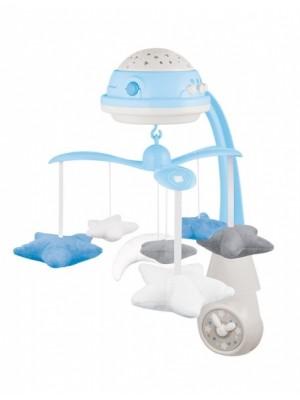 Canpol babies Kolotoč nad postieľku s projektorom Hviezdičky - modré