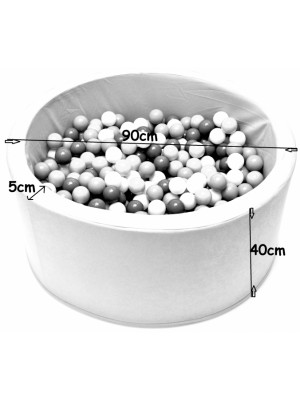 NELLYS Bazén pre deti 90x40cm  -lúka, šedý s balonikami, Ce19
