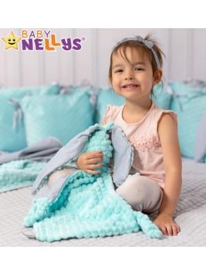 Baby Nellys  Přítulníček králiček, Minky + bavlna - matový