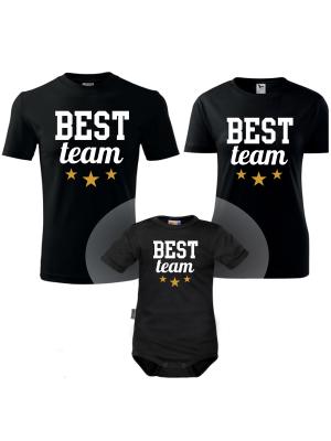DEJNA Máma, Táta, Baby  Best Team - sada 3ks - čierné