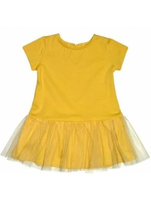 Dojčenské šaty K-Baby - horčicove, veľ. 68 - 68 (3-6m)