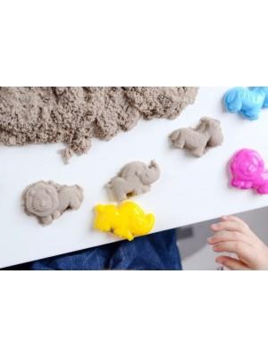 Adam Toys, Kinetický piesok prírodný - 5kg + nafukovacie pieskovisko