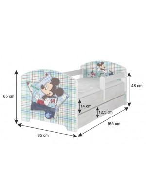 BabyBoo Detská postel Disney - Mickey s kamarátmi - biela s materacom, 160 x 80 cm - 160x80