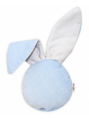 Baby Nellys Hrkálka / přítulníček, Mini zajačik - Velvet, modrý