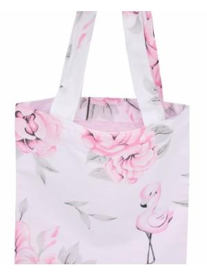 Bavlnená taška Baby Nellys Maxi pre mamy - Plameniak ružový
