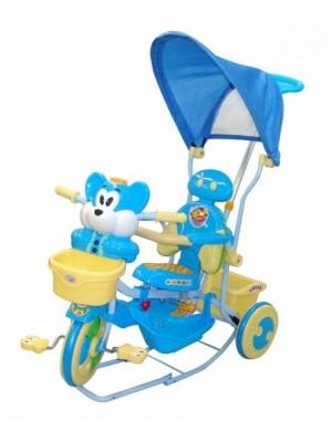 Euro Baby Detská trojkolka s vodiacou tyčou - modrá