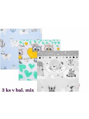 Baby Nellys Povlak na vankúšik sada 3ks, 40x40cm, mix vzorov, chlapci