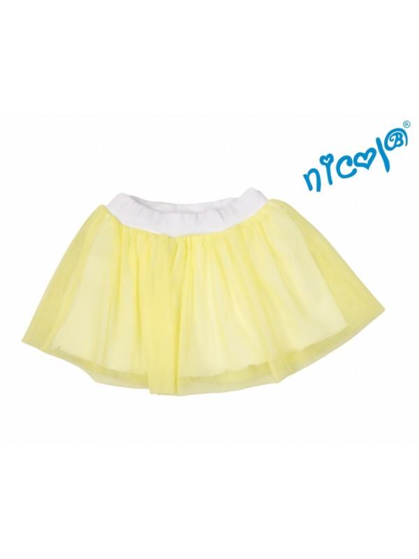 Dojčenská sukne Nicol, Mořská víla - žltá, veľ. 80 - 80 (9-12m)