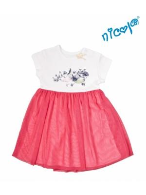 Detské šaty Nicol, Morská víla - červeno/biele - 110