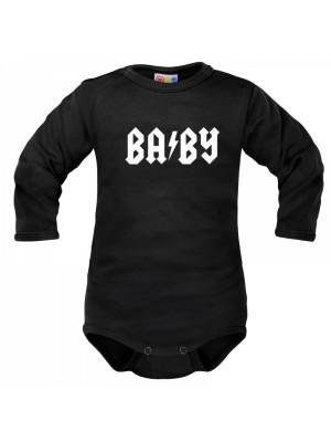 Body dlhý rukáv Dejna Baby - čierne - 62 (2-3m)