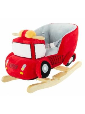 Euro Baby Hojdacie Požiarne auto s melódiu - červená