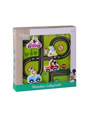 Drevený motorický labyrint Mickeyho svet, 30 x 30 x 3 cm