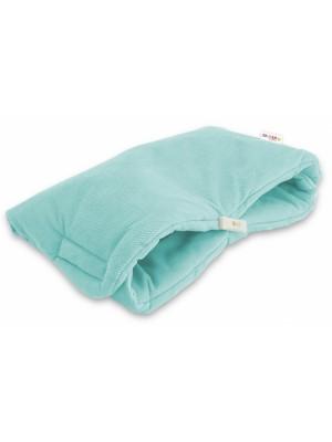 Luxusný rukávnik Velvet Baby Nellys, 40 x 20cm - mätová, zelená