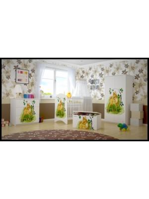 BabyBoo Detská postieľka LUX s motivom Bambi, 120 x 60 cm