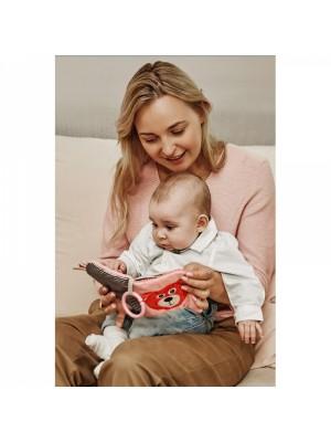 Canpol babies Plyšová šustiaca knižka Macko s klipem - sivá