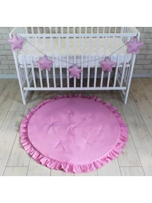 Baby Nellys Detská hracia podložka, koberček s volánikom - sv. ružová