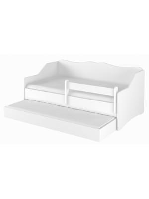 Babyboo Detská posteľ LULU 160 x 80 cm - biela - 160x80
