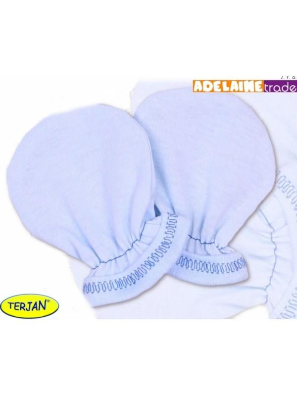 Rukavičky bavlna Terjan - modré, veľ. 2