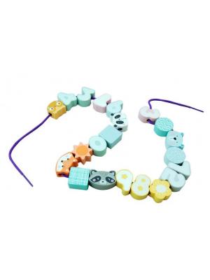 Adam Toys Drevené korálky pastelových farbách