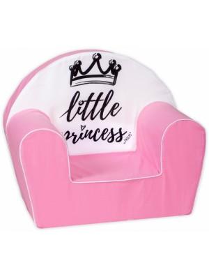 Baby Nellys Detské kresielko, pohovka LUX Little Princess, rúžové