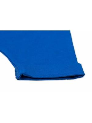 Baby Nellys Bavlnené kraťasy Baggy s klokaním vreckom - modré, veľ. 74 - 74 (6-9m)