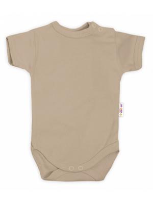 Baby Nellys Bavlnené body kr. rukáv - béžové, veľ. 74 - 74 (6-9m)
