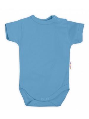 Baby Nellys Bavlnené body kr. rukáv - sv. modrá, veľ. 80 - 80 (9-12m)