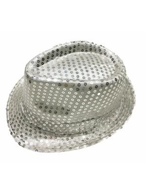 Klobuk disco stříbrný dospělý - Michael Jackson style