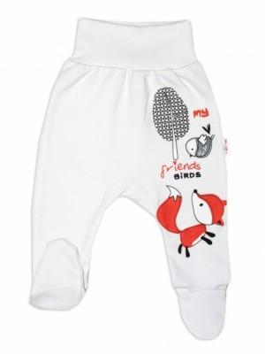 Baby Nellys Bavlnené dojčenské polodupačky, Fox - biele, veľ. 86 - 86 (12-18m)