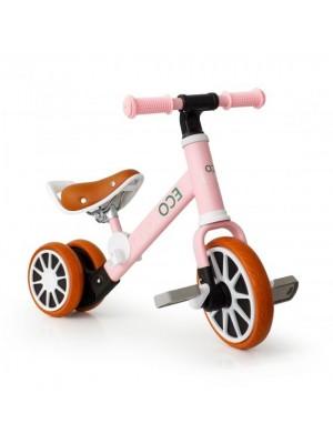 Eco toys Bicykel, odrážadlo s pedálmi - ružová