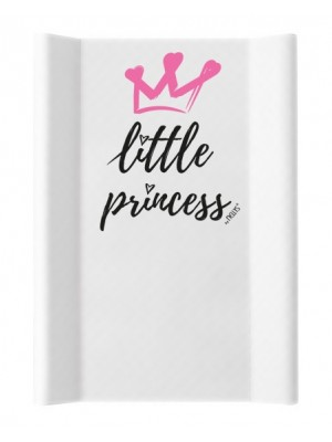 NELLYS Prebaľovacia podložka, tvrdá MDF, Little Princess, 50 x 70cm, biela