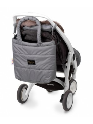 Baby Nellys taška na kočík STYLE, šedá