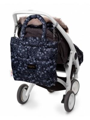 Baby Nellys taška na kočík STYLE, vločky