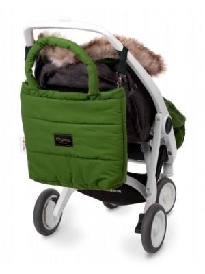 Baby Nellys taška na kočík STYLE, oliva