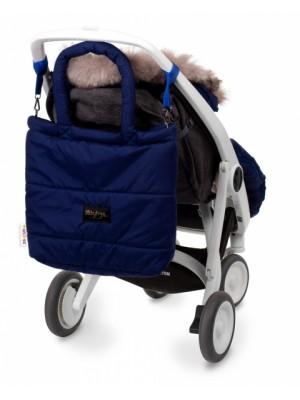 Baby Nellys taška na kočík STYLE, granát