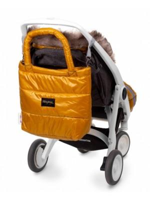 Baby Nellys taška na kočík STYLE, horčica