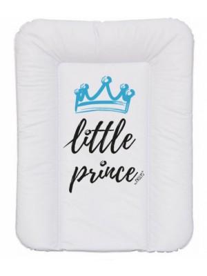 NELLYS Prebaľovacia podložka, mäkká, Little Prince, 70 x 50cm, biela