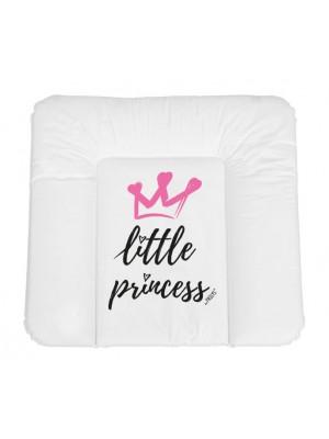 NELLYS Prebaľovacia podložka, mäkká, Little Princess, 85 x 72cm, biela