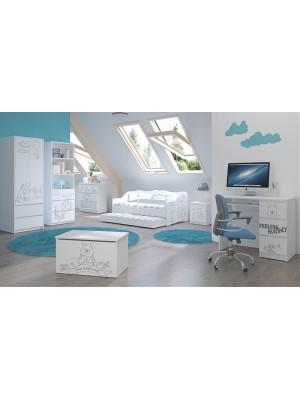 Babyboo Detská izba Medvedík Pú - black - 140x70