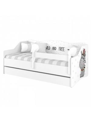 Babyboo Detská posteľ LULU 160 x 80 - Hippo - 160x80