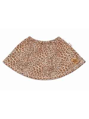 BABY NELLYS Dětská sukne Gepard - hnedá - 74 (6-9m)