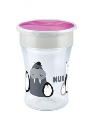 Hrnček NUK Magic Cup 230 ml - Tučňáci, růžová