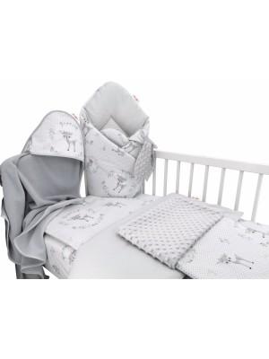 Baby Nellys 6-dielna výhod. súprava pre bábätko s darčekom,120 x 90, Koloušek ružový/mäta - 120x90