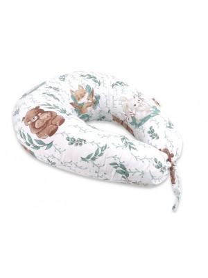 Baby Nellys Bavlnený dojčiace vankúš, LULU natural, mätová