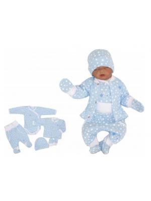 5-dielna súpravička do pôrodnice Hviezdička, modrá - 50 (0-1m)