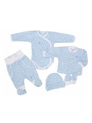 5-dielna súpravička do pôrodnice Hviezdička, modrá, veľ. 56 - 56 (1-2m)