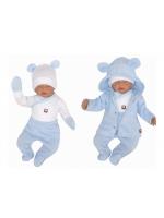 Z & Z 5-dielna kojenecká súpravička do pôrodnice - modrá, biela, veľ. 62 - 62 (2-3m)