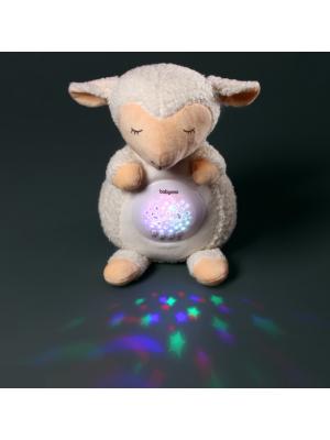 BabyOno Projektor s melódiou - Ovečka Scarlet, biela