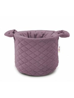 Baby Nellys, Kôš na hračky Velvet prešívaný - fialová