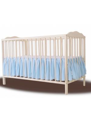 Baby Nellys Bavlnený volánik pod matrac - sv. modrý - 120x60